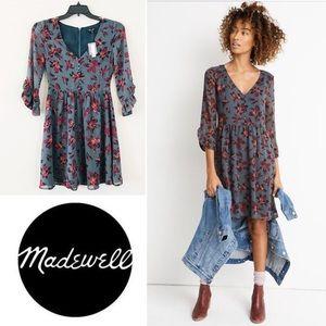 NWT Moonblossom Ruffle-Sleeve Madewell Dress